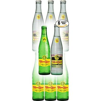 Topo Chico Mineral Water, Twist of Lime & Nature Mineral Water - Variety Pack!, 11.5-12 oz Glass Bottle (Pack of 6, Total of 70.5 Oz)