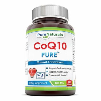 Pure Naturals COQ10 Kaneka Q10 Softgels, 400 mg,180 Count