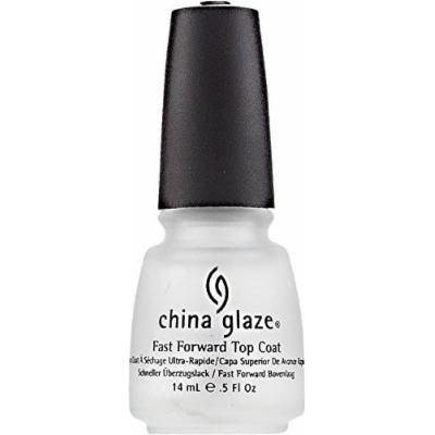 China Glaze Fast Forward Top Coat Nail Polish 0.50 oz (Pack of 4)