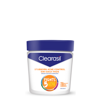 Clearasil Stubborn Acne Control Ultra 5 in 1 Acne Face Wash Pads, 90 Count