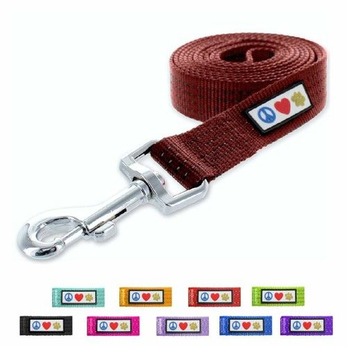 Pawtitas Pet Puppy Leash Reflective Dog Leash Comfortable Handle Highly Reflective Threads Heavy Duty Dog Training Leash Available as a 6 ft Dog Leash or 4 ft Dog Leash [name: size value: size-xs/s-4feet]