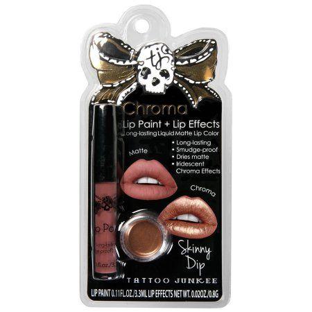 Tattoo Junkee - Lip Paint + Lip Effects Skinny Dip - 2 Count