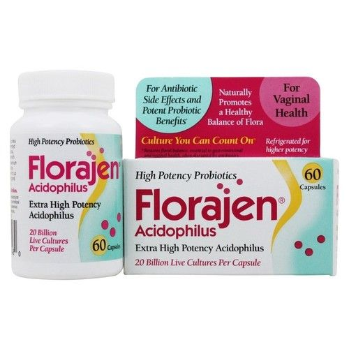 Florajen Acidophilus High Potency Probiotics | for Potent Probiotic Benefits and Supports Immune, Digestive, Vaginal and Urinary Health | 20 Billion CFUs| 60 Capsules | Packaging May Vary [Florajen Acidophilus]