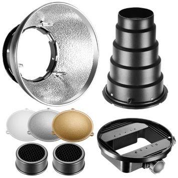 Neewer Beauty Dish Reflector Diffuser Lamp Shade with Honeycomb Grid Snoot, Gold/Silver/White Reflectors for Nikon SB-600,SB-800,SB-900,SB-910,Canon 380EX,430EXII,550EX,580EX II, 600EX-RT, Neewer TT560