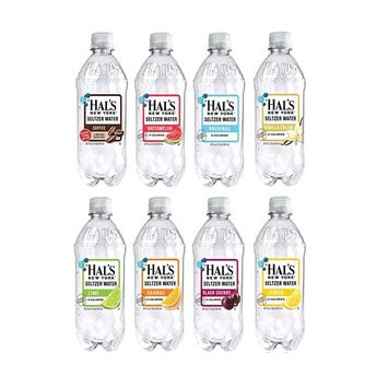 Hal's New York Seltzer Water Variety Flavor Pack, 20 ounces (24 Pack) and Nature Valley Granola Bar