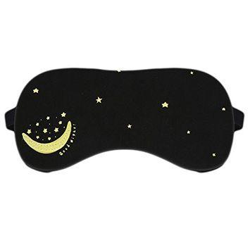 BAOBAO Women Men Sun Star Moon Eye Mask Cover Sleeping Blindfold Eyeshade Travel Relax