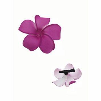 Purple tropical Summer beach Hawaiian Flower Alligator Hair Clip