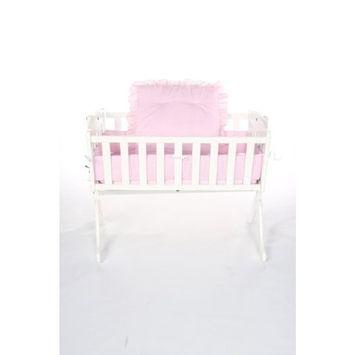 Baby Doll Bedding Gingham Cradle Set, Mint