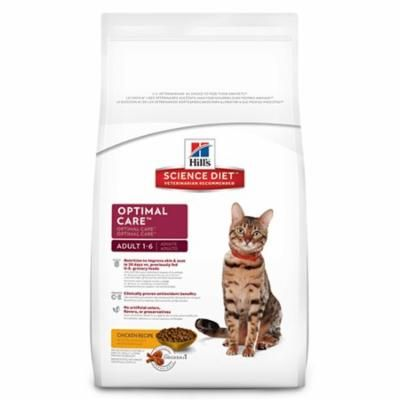 Hill's Science Diet Adult Optimal Care Chicken Recipe Dry Cat Food, 16 lb bag