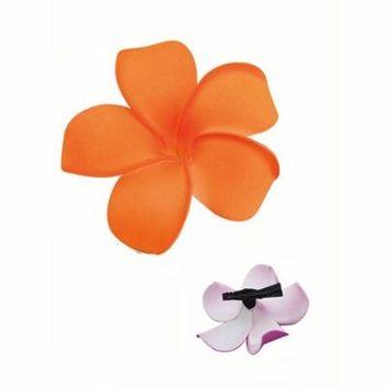 Orange tropical Summer beach Hawaiian Flower Alligator Hair Clip