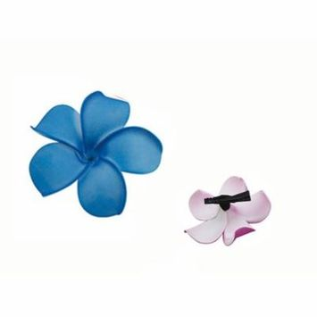 Blue Tropical Flower Summer beach Hawaiian Flower Alligator Hair Clip