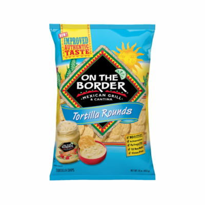 On The Border Chips Tortilla Rounds, 16.0 OZ