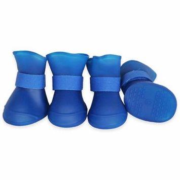Pet Lift Pet Life Elastic Protective Multi-Usage All-Terrain Rubberized Dog Shoes - Blue - Medium