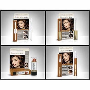 Cover Your Roots Hair Touchup Megapack - 4 Piece Set - Medium Brown