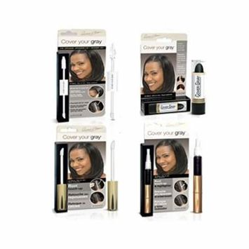 Cover Your Roots Hair Touchup Megapack - 4 Piece Set - Jet Black