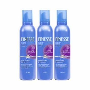 3 Pack - Finesse Shape + Strenghten Extra Control Mousse 7 oz Each