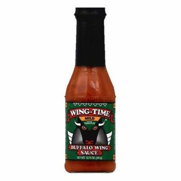 Wing Time Mild with Parmesan Buffalo Wing Sauce, 12.75 OZ (Pack of 6)