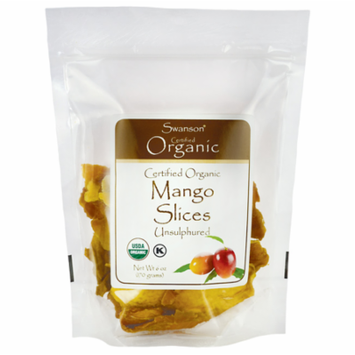 Swanson Certified Organic Mango Slices, Unsulfured 6 oz (170 g) Pkg