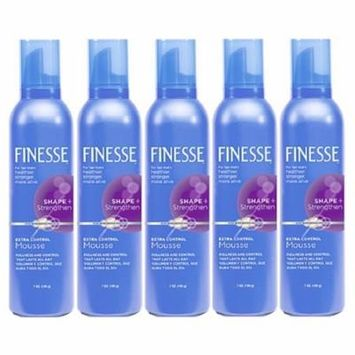 5 Pack - Finesse Shape + Strenghten Extra Control Mousse 7 oz Each