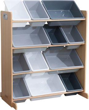 KidKraft Aufbewahrungsboxen mit Ständer Grau