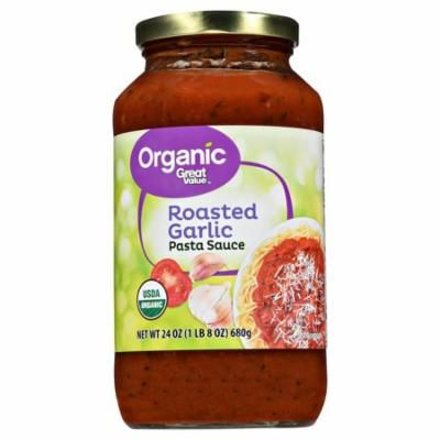 Great Value Organic Roasted Garlic Pasta Sauce, 23.5 oz