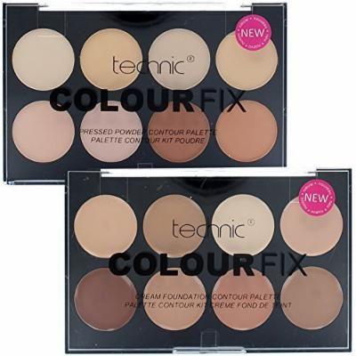 Technic Duo Colour Fix Set - 8 Colour Foundation Palette & 8 Colour Contour Kit