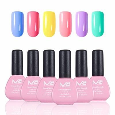 MelodySusie Durable Gel Nail Polish - Sweet Reverie 1 Step Nail Gel Kit, Six Colors, Long Lasting, No Base and Top Coat Needed, Quick Curing with LED or UV Nail Dryer, Easy Soak Off