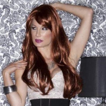 Blush Carmen Fantasy Style Synthetic Wig - Cognac