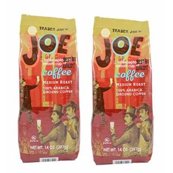 Trader Joe's Medium Roast Ground Coffee 14 oz. (Pack of 2)