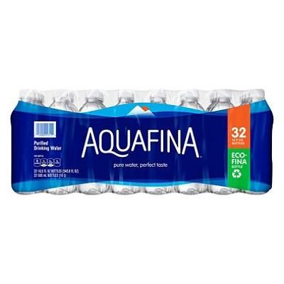 Aquafina Purified Drinking Water, 16.9 Ounce (32 Bottles)