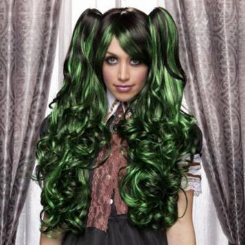 Blush JOI Fantasy Style Synthetic Wig - Green Shadow