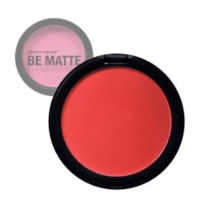 (6 Pack) CITY COLOR Be Matte Blush Blood Orange