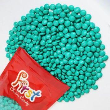 m&m Aqua Milk Chocolate Candy 2 Pound Resealable Pouch Bag