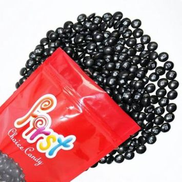 m&m Black Milk Chocolate Candy 1 Pound Resealable Pouch Bag