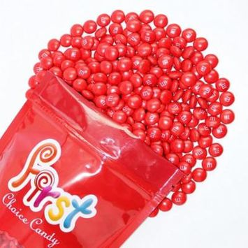 m&m Red Milk Chocolate Candy 1 Pound Resealable Pouch Bag