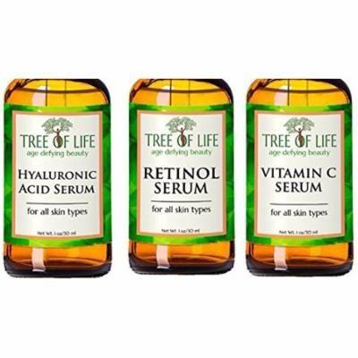 Anti Aging Serum Combo Pack - 72% ORGANIC - Vitamin C Serum - Retinol Serum - Hyaluronic Acid Serum
