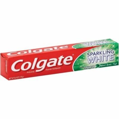 Colgate Sparkling White Baking Soda Anticavity Fluoride Toothpaste, Mint Zing 6 oz (Pack of 4)