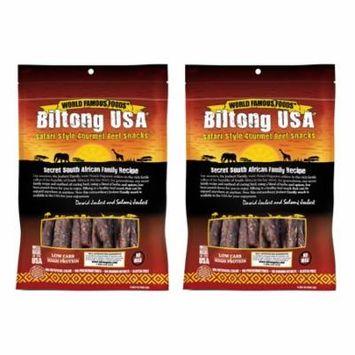 Biltong USA Droewors Beef Sticks, Spicy Medium Flavor, 16oz Bag