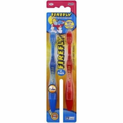 Firefly LightUp Timer Toothbrush with Suction Cup 2 ea (color may vary) (Pack of 6)