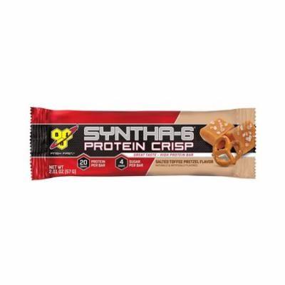 BSN Syntha-6 Protein Crisp Bar, Salted Toffee Pretzel, 12 - 2.01 Ounce Bars