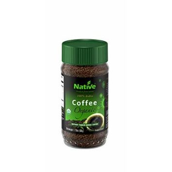 Native USA Organic Instant Freeze-Dried Coffee, 1.75-Ounce Jars (Pack of 4)