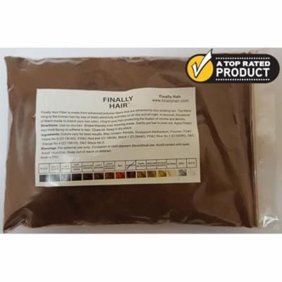 Auburn Hair Fibers Refill Bag - Hair Building Fiber To Fill In Thinning Balding Areas Instantly - 25 Gram Refill Bag of Thickener Filler Fibers - Covers Grey Roots Too