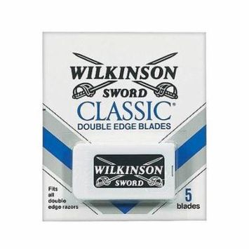 New Wilkinson Sword Double Edge Blades,Fits All Double Edge Razors, 5 Blades