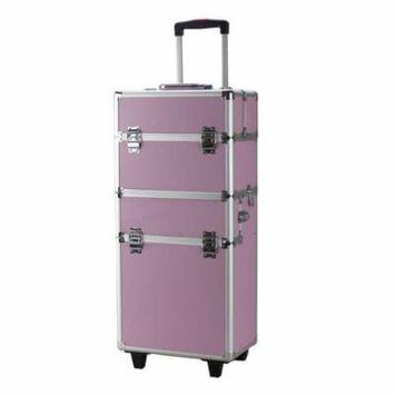 Ktaxon Aluminum Rolling Makeup Organizer Train Case Box Organizer Salon Cosmetic