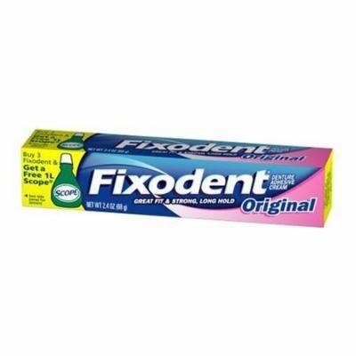 Fixodent Original Denture Adhesive Cream 2.4oz Each