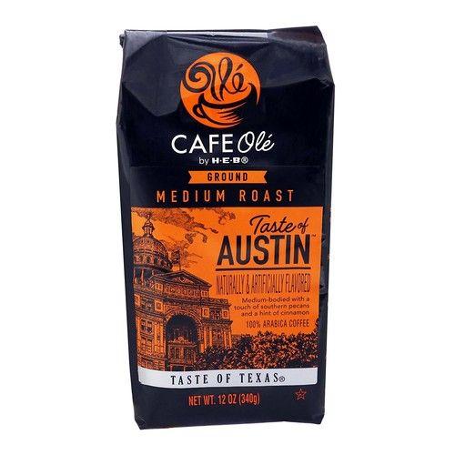 HEB Cafe Ole Taste Of Austin Ground Coffee (Pack of 2) (Pecans Cinnamon)12 oz (24 oz Total)