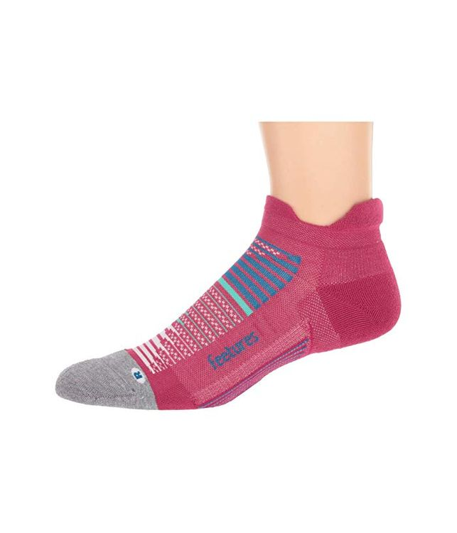 Feetures Elite Max Cushion No Show Tab (Qusar Pink) No Show Socks Shoes