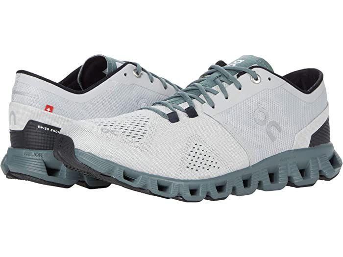 On Cloud X (Glacier/Olive) Men's Shoes