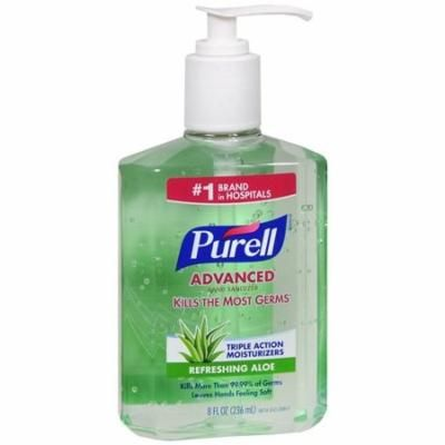 Purell Instant Hand Sanitizer With Refreshing Aloe, 8 Ounce Each