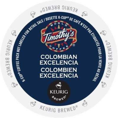 Timothy's Colombian Excelencia, K-Cup Portion Pack for Keurig Brewers (96 Count) (4x16oz)